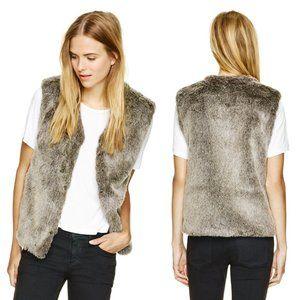 Talula Brown Faux Fur Park Slope Vest